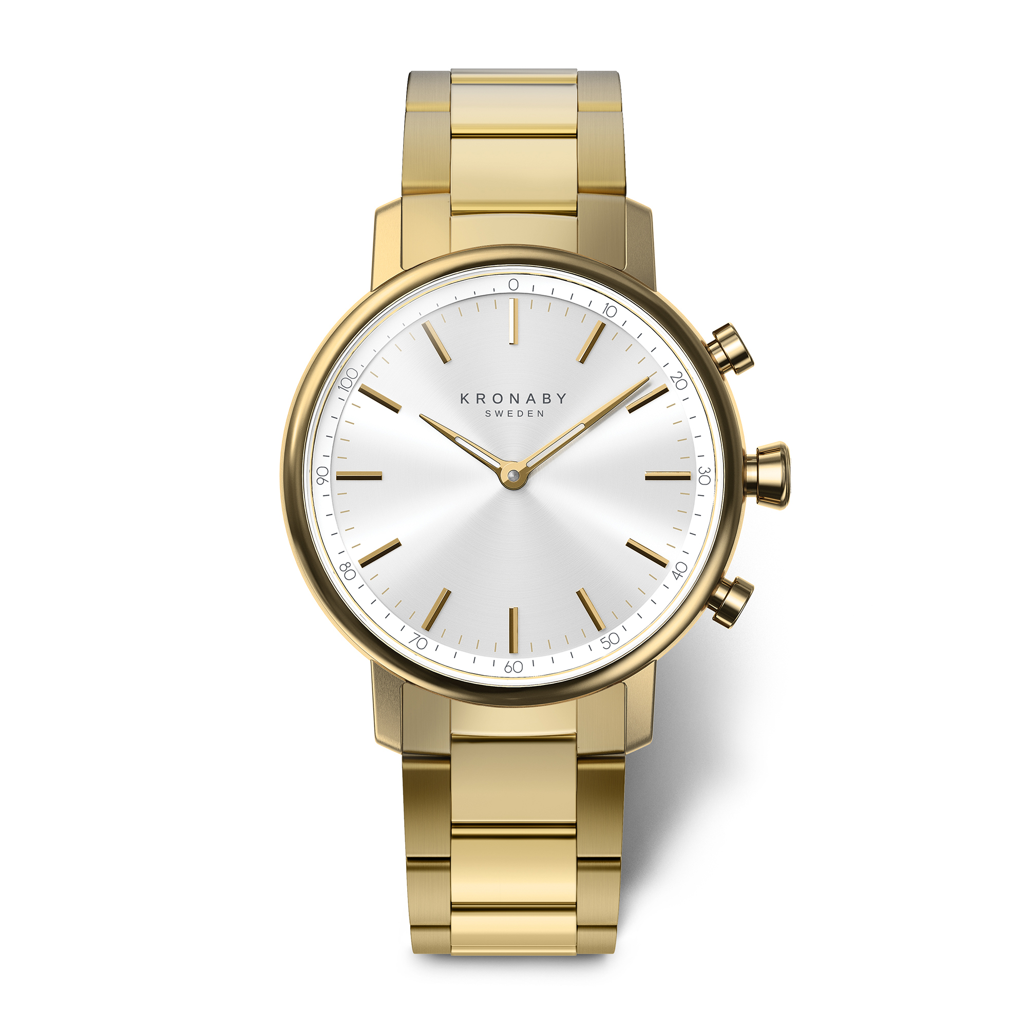 and accessories gold product tone fossil stainless virginia white womens watches watch gallery bracelet lyst goldtone steel normal